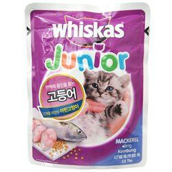 고양이간식 위스카스 키튼 파우치(고등어) 85g