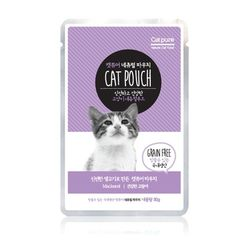 고양이간식 캣퓨어 내추럴 파우치 80g(건강한고등어)