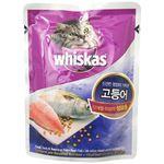 고양이간식 위스카스 성묘용 파우치(고등어)85g
