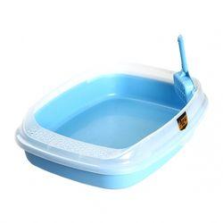 고양이 배변용품 마칼 스몰캣 평판 화장실(블루)