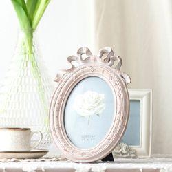 핑크리본 타원 액자 4x6
