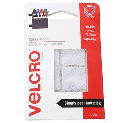 오리지날 Velcro벨크로 사각미니 6세트 사무용품 부착 미국산