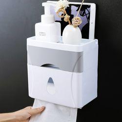 비진 벽걸이 화장지 커버 일체형 욕실 수납장