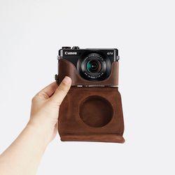 캐논 g7x mark3 초코 카메라 케이스 파우치 가방 넥스트랩