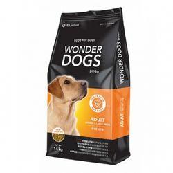 강아지사료 원더독스 어덜트 큰알갱이 중대형견용 14kg