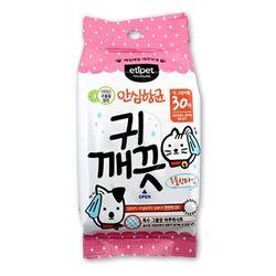 강아지 건강용품 에티펫 귀깨끗 물티슈 30매