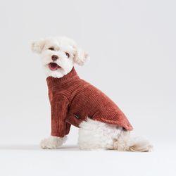 터틀넥 풀오버 스웨터 (브릭)