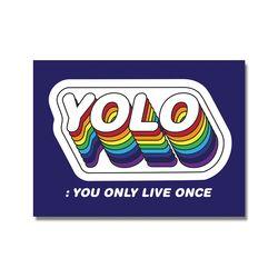 YOLO 욜로 도무송 스티커