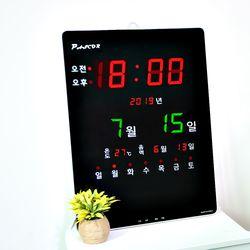 무소음 LED 디지털 벽시계 SDY-313R