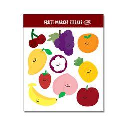 스마일 과일 인쇄소스티커