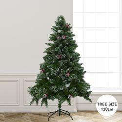 크리스마스 스노 빈터 화이트 크리스마스 트리 120cm