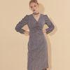 Choker Midi Dress Blue