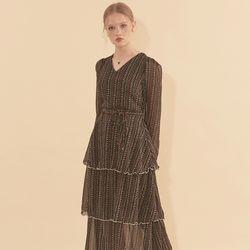 Chiffon Layered Dress Black