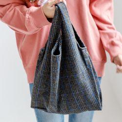 [ZIUM] W-15 히든체크 캔버스백 여성가방 핸드백 패딩가방
