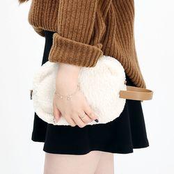 [ZIUM] W-20 슈가핸드 양털백 여성가방 핸드백 패딩가방