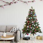 크리스마스 트리 비앙코 스노우 레인보우 오너먼트 세트 150cm