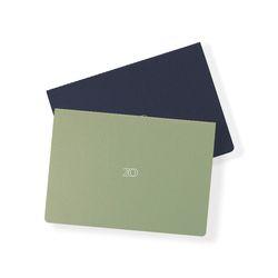 20 Monthly planner navy green