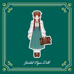 주근깨 소녀 빨간 머리 앤 G12 종이구관 종이인형