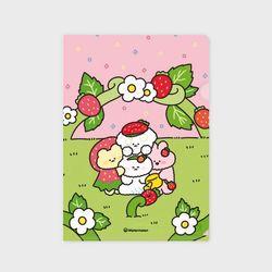 행복한딸기정원 클리어파일 EA03 파일폴더 L자홀더