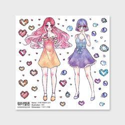 마법소녀보석투명 A186 캐릭터인스