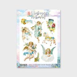 빈티지빅토리아천사의세계투명 A114 캐릭터인스