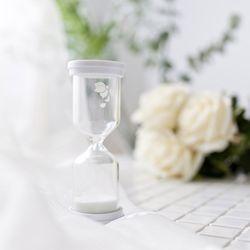 맑은5분 하얀꽃 모래시계-운동.요리.이너피스가 필요할때