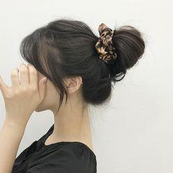 레오파드 호피 헤어 곱창끈 머리끈 헤어슈슈