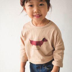 꿈꾸는아이 댕댕이 라운드 긴팔 티셔츠 3컬러중 택1