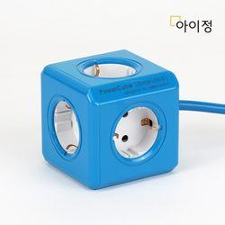 파워큐브 올컬러 5구 1.5M 블루 멀티탭 콘센트