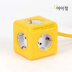 파워큐브 올컬러 5구 1.5M 옐로우 멀티탭 콘센트