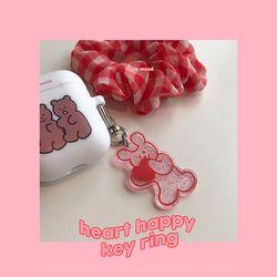 heart happy key ring (키링)
