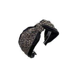 [오뜨르뒤몽드] layered paisley hairband (black)