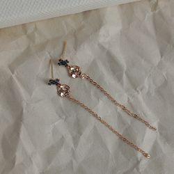 [ALLI] 크로스 코인 드롭 10K 골드 귀걸이 CLE19974T