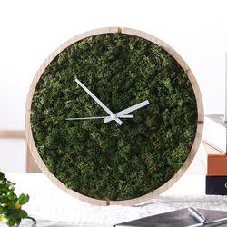 원목 스칸디아모스 벽시계(30cm)-모스그린