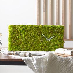 스칸디아모스 원목 벽시계(40x20cm) - 스프링그린