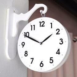 모던스타일 화이트 양면시계