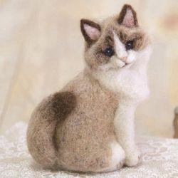 니들펠트 하마나카 양모 랙돌 고양이 키트