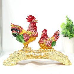 큐빅닭 보석함 CET001MI 인테리어소품 닭장식품 집들이선물