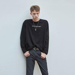 LETTERING OVERFIT T-SHIRTS BLACK