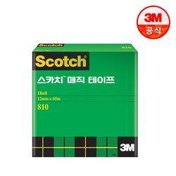 스카치 매직 테이프 810 리필 3인치(12mm x 65m)
