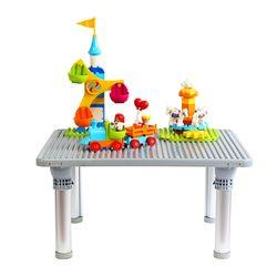 [썸네일 텍스트 삭제] 플라팜 큰블럭 유아책상 블럭테이블 놀이상 레고책상