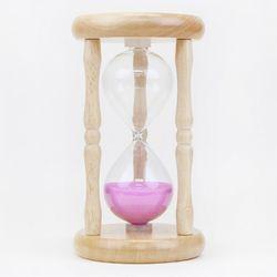 향나무 우드원형 모래시계 10분