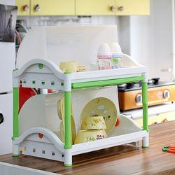 맘마 식기건조대 대형 2단 식기보관함 그릇건조 주방용품