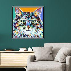 다채로운 컬러풀 고양이I 동물 작품 인테리어 그림액자