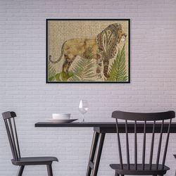 빈티지 멋있는 사자 동물 작품 인테리어 그림액자