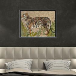 빈티지 멋있는 호랑이 동물 작품 인테리어 그림액자