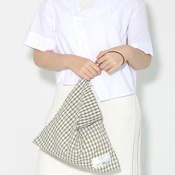Fabric leather bag - deep green