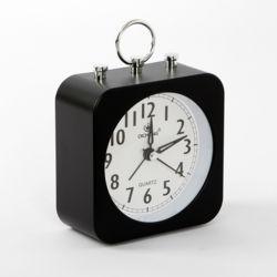 퀴리 무소음 알람 탁상시계(블랙)