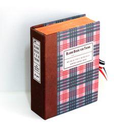 빈티지체크 고서적함 [VintageBookCase] BlankBook
