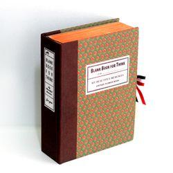 빈티지플라워 그린 고서적함 [VintageBookCase] BlankBook